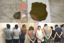 صورة توقيف مجموعه من 10 اشخاص بينهم فتيات … بين مروج ومتعاطي للمخدرات